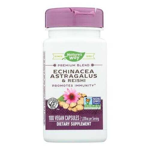 Nature's Way Echinacea Astragalus and Reishi - 100 Capsules