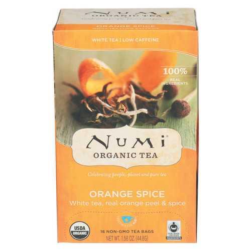 Numi Tea Organic White Tea - Orange Spice - Case of 6 - 16 BAG