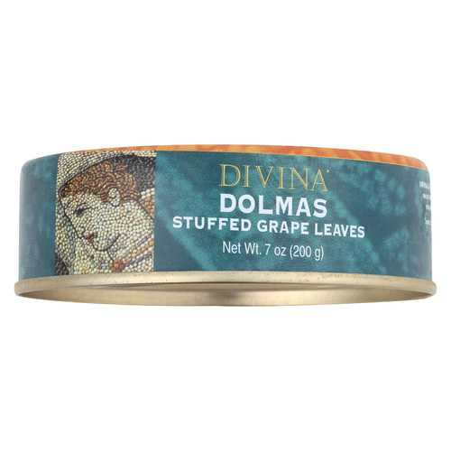Divina Dolmas Stuffed Grape Leaves - Case of 12 - 7 oz.