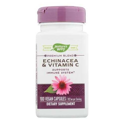 Nature's Way Echinacea and Vitamin C - 492 mg - 100 Capsules