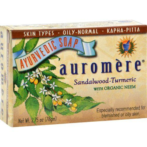 Auromere Ayurvedic Bar Soap Sandalwood-Turmeric - 2.75 oz