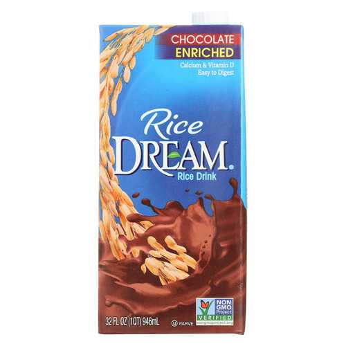 Imagine Foods Rice Dream Enriched Rice Drink - Chocolate - Case of 12 - 32 Fl oz.