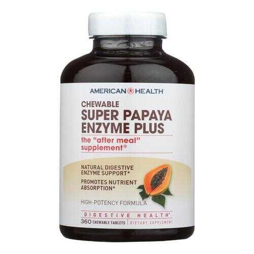 American Health Super Papaya Enzyme Plus Chewable - 360 Chewable Tablets