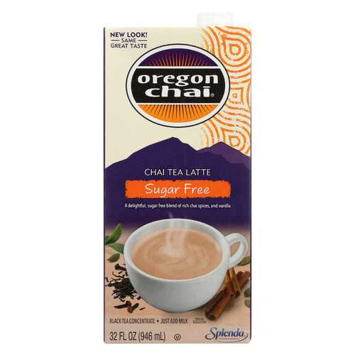 Oregon Chai Tea Latte Concentrate - Sugar Free - Case of 6 - 32 Fl oz.