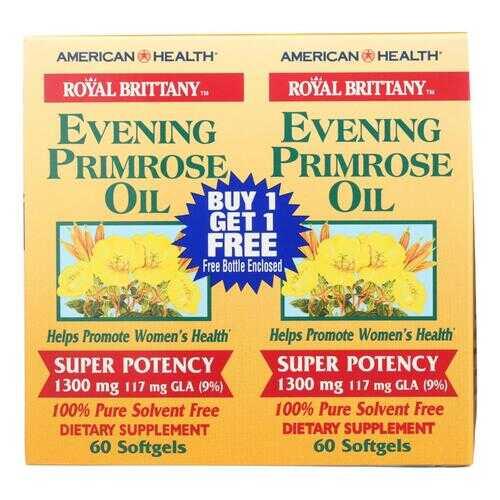 American Health - Evening Primrose Oil - 1300 mg - 60+60 Softgels