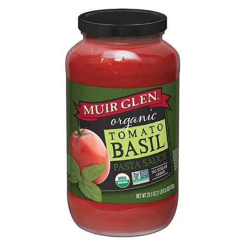 Muir Glen Tomato Basil Pasta Sauce - Tomato - Case of 12 - 25.5 Fl oz.