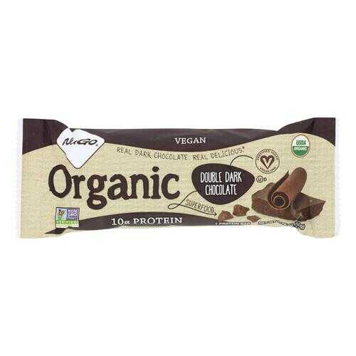 NuGo Nutrition Bar - Organic Double Dark Chocolate - 1.76 oz - Case of 12