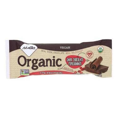 NuGO Nutrition Bar - Organic Dark Chocolate Pomegranate - 50 grm - Case of 12