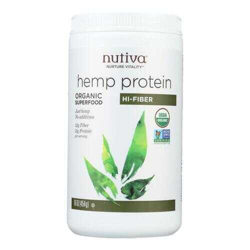 Nutiva Organic Hemp Protein Hi-Fiber - 16 oz
