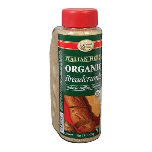 Edward and Sons Organic Italian Herb Breadcrumbs - Case of 6 - 15 oz.