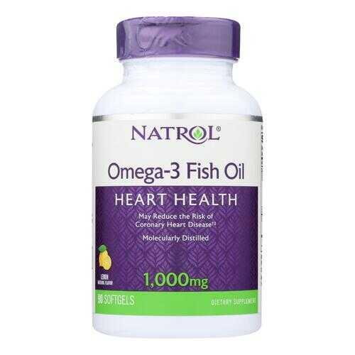 Natrol Omega-3 Fish Oil Lemon - 1000 mg - 90 Softgels