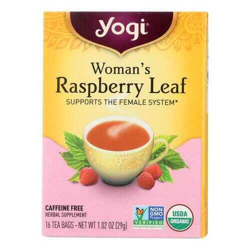 Yogi Organic Woman's Herbal Tea Raspberry Leaf - 16 Tea Bags - Case of 6