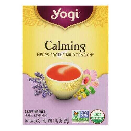 Yogi Organic Calming Herbal Tea - 16 Tea Bags - Case of 6