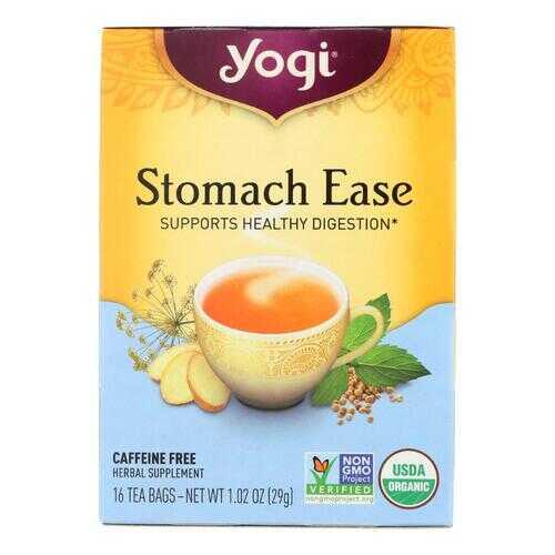 Yogi Organic Stomach Ease Herbal Tea - 16 Tea Bags - Case of 6