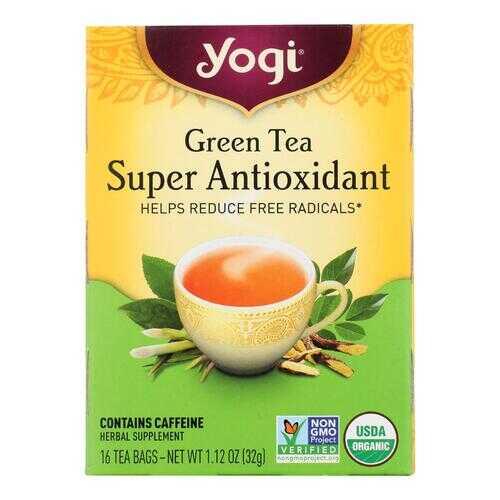 Yogi Green Tea Super Anti-Oxidant - 16 Tea Bags - Case of 6