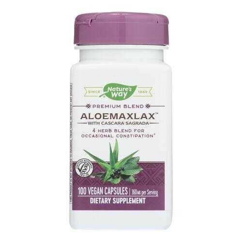 Nature's Way - AloeMaxLax with Cascara Sagrada - 100 Vegetarian Capsules