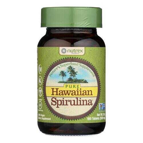 Nutrex Hawaii Pure Hawaiian Spirulina Pacifica - 500 mg - 100 Tablets