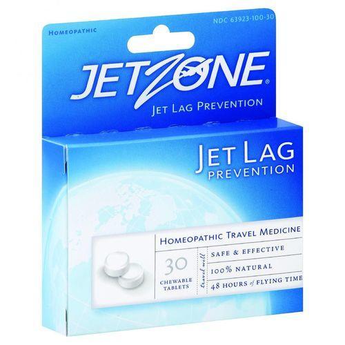 Jet Zone Jet Lag Prevention - Homeopathic Travel Medicine - 30 Tablets - Case of 6