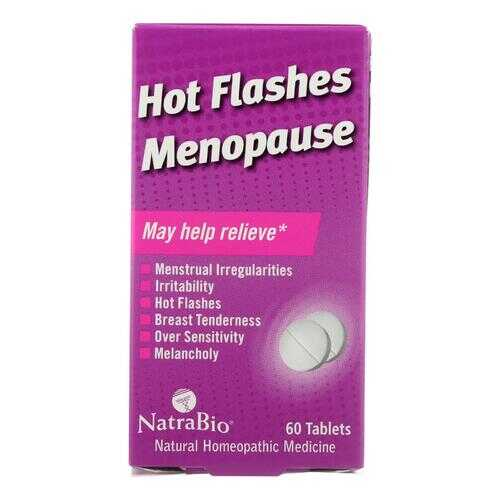 NatraBio Hot Flashes Menopause Relief - 60 Tablets
