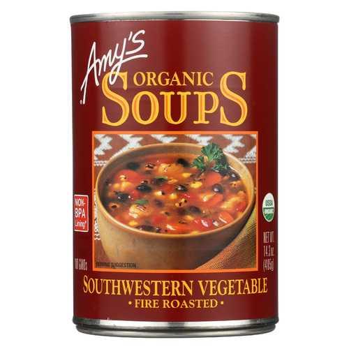 Amy's Organic Fire Roasted Southwestern Vegetable Soup - 14.3 oz