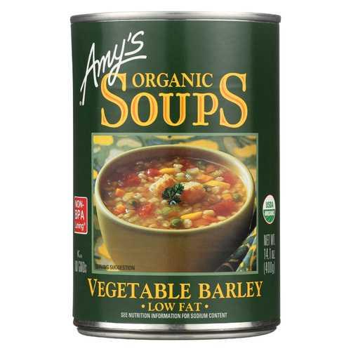 Amy's Organic Low Fat Vegetable Barley Soup - 14.1 oz