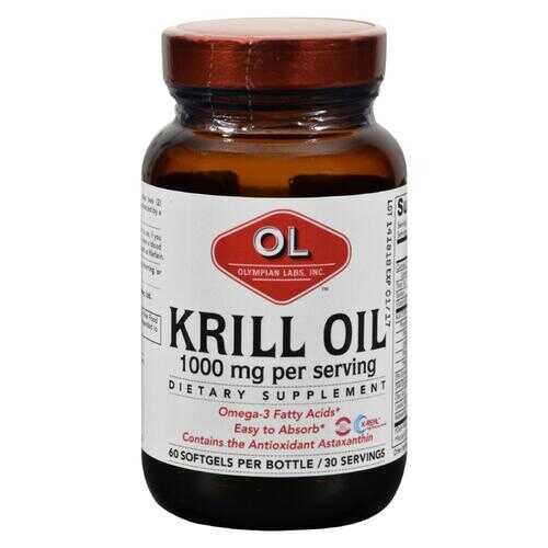 Olympian Labs Krill Oil - 1000 mg - 60 Softgels