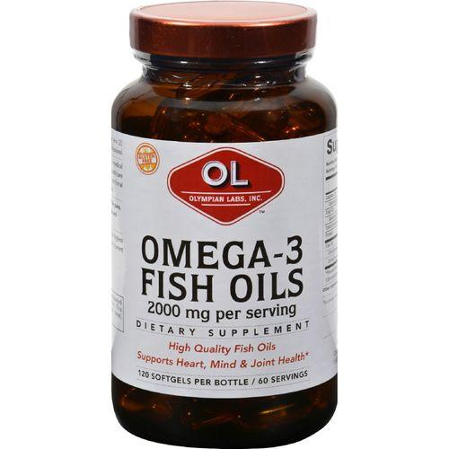Olympian Labs Omega-3 Fish Oils - 2000 mg - 120 Softgels
