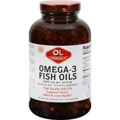 Olympian Labs Omega-3 Fish Oils - 1 g - 240 Softgels