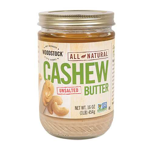 Woodstock Cashew Butter - Unsalted - 16 oz.