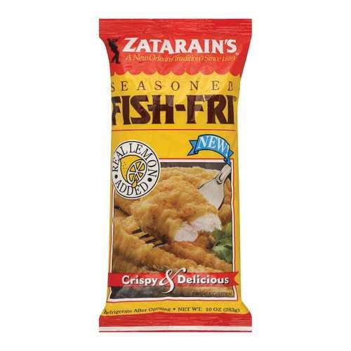 Zatarain's Fish Fry- Seasoned - Case of 12 - 10 oz.