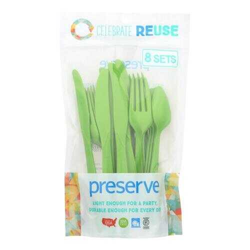 Preserve Heavy Duty Cutlery - Apple Green - Case of 12 - 24 Count