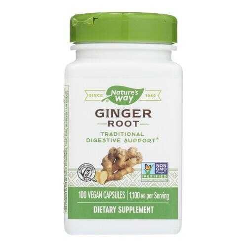 Nature's Way - Ginger Root - 100 Capsules