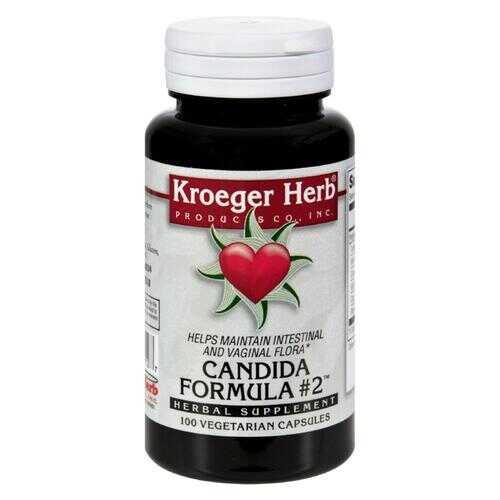 Kroeger Herb Candida Formula No.2 - 100 Capsules