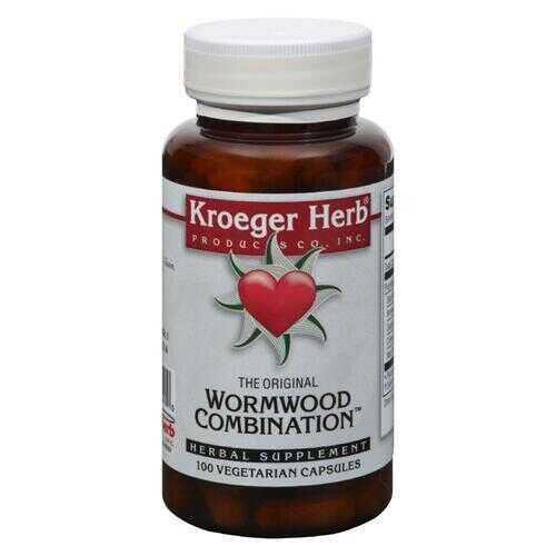 Kroeger Herb Wormwood Combination - 100 Vegetarian Capsules
