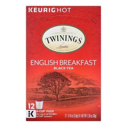 Twining's Tea Black Tea - English Breakfast - Case of 6 - 12 Count