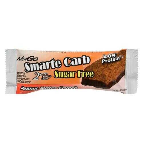 Nugo Nutrition Smarte Carb Bar - Peanut Butter Crunch - Case of 12 - 1.76 oz