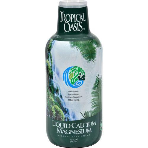 Tropical Oasis Liquid Calcium and Magnesium Orange - 16 fl oz