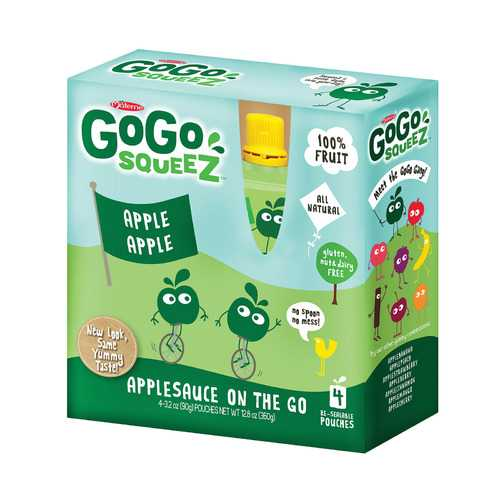 GoGo Squeeze Organic Applesauce - Apple - Case of 12 - 3.2 oz.