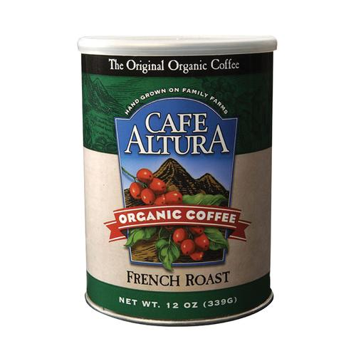 Cafe Altura Organic Ground Coffee - French Roast - Case of 6 - 12 oz.