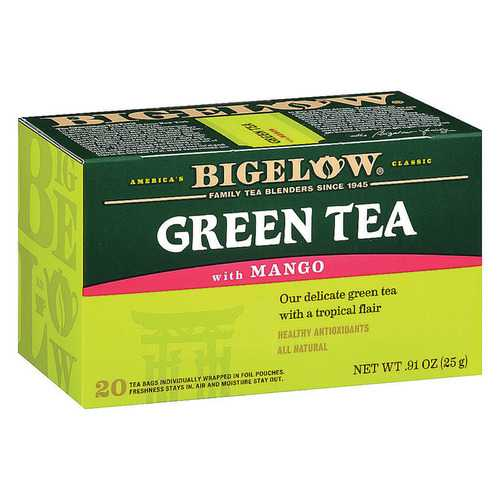 Bigelow Tea Green Tea with Mango - Case of 6 - 20 BAG