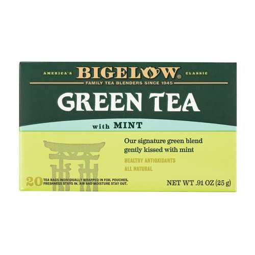 Bigelow Tea Green Tea - with Mint - Case of 6 - 20 BAG