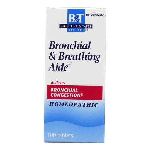 Boericke and Tafel - Bronchitis and Asthma Aide - 100 Tablets