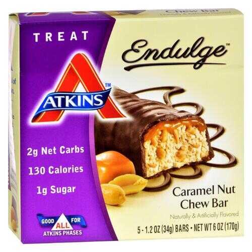 Atkins Endulge Bar Caramel Nut Chew - 5 Bars