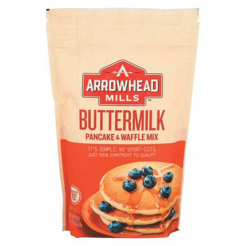 Arrowhead Mills Organic Buttermilk Pancake and Waffle - Mix - Case of 6 - 26 oz.