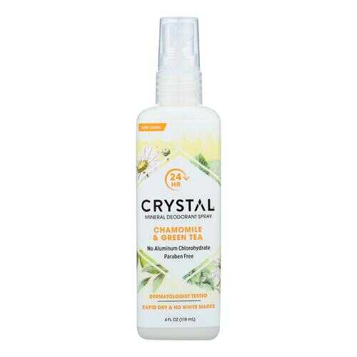 Crystal Essence Mineral Deodorant Body Spray Chamomile And Green Tea - 4 fl oz