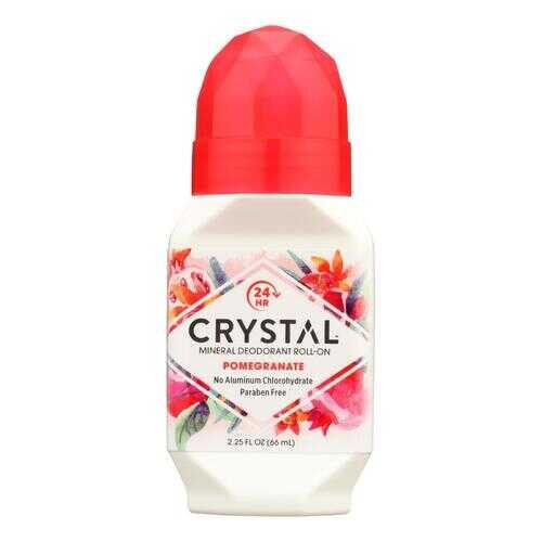 Crystal Essence Mineral Deodorant Roll-On Pomegranate - 2.25 fl oz