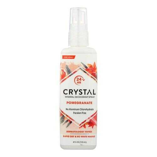 Crystal Essence Mineral Deodorant Body Spray Pomegranate - 4 fl oz
