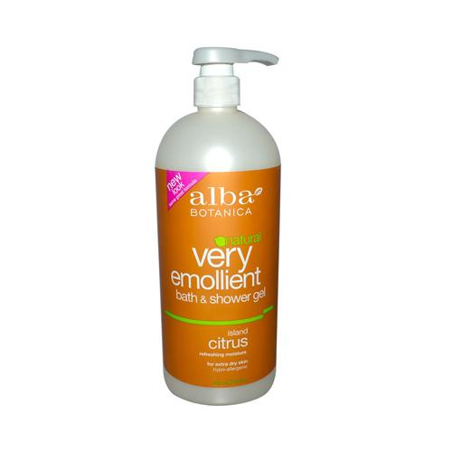 Alba Botanica Very Emollient Bath and Shower Gel Island Citrus - 32 fl oz