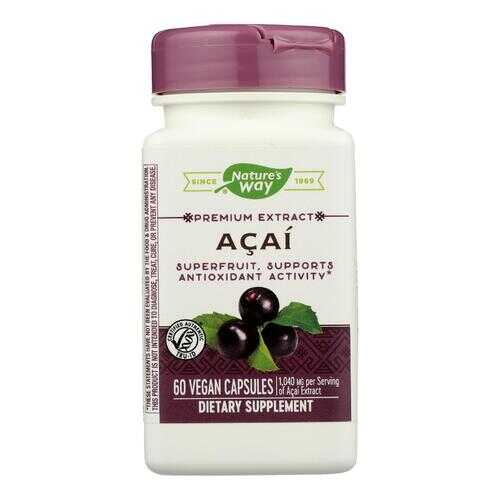 Nature's Way - Standardized Acai - 60 Vegetarian Capsules
