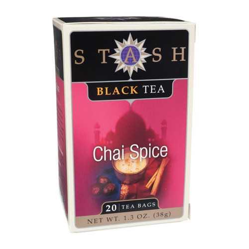 Stash Tea Chai Black Tea - Double Spice - Case of 6 - 20 Bags